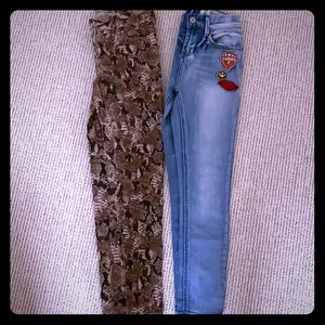 Two pair of girls jeans